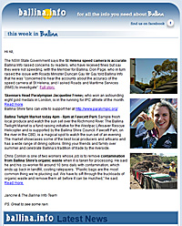 Ballina Info Newsletter Example
